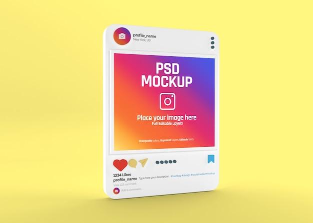 현실적인 소셜 미디어 instagram 게시물 모형