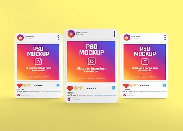 リアルなソーシャルメディアinstagram投稿モックアップ