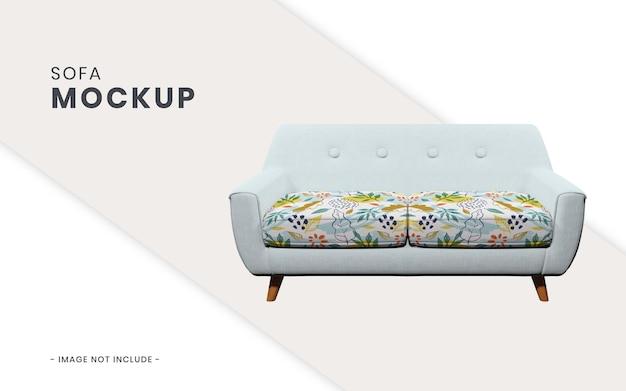 Realistic sofa mockup isolated