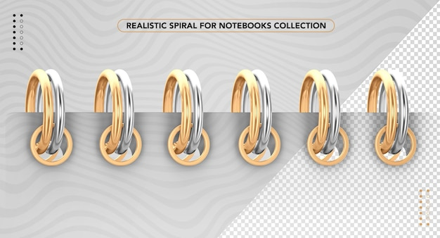 Realistic spiral for notebooks
