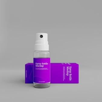 Реалистичный макет бутылки с распылителем