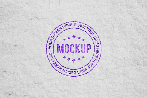 Realistic stamp style logo mockup