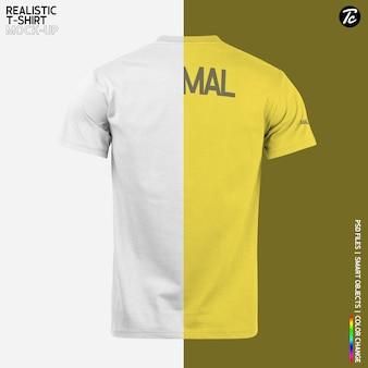 Realistic t shirt mockup design isolated