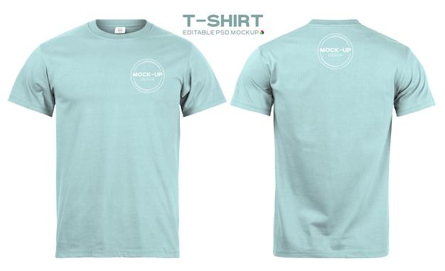 あなたのデザインのための現実的なtシャツのモックアップテンプレート。