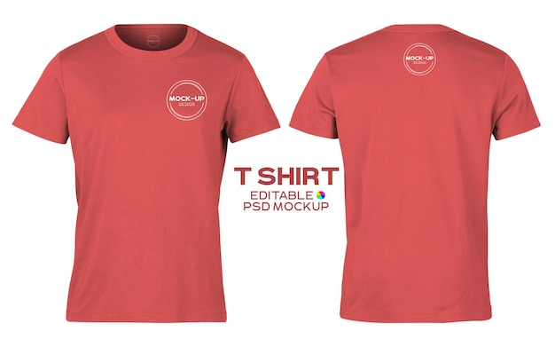 Realistic t shirt mockup template for your design.