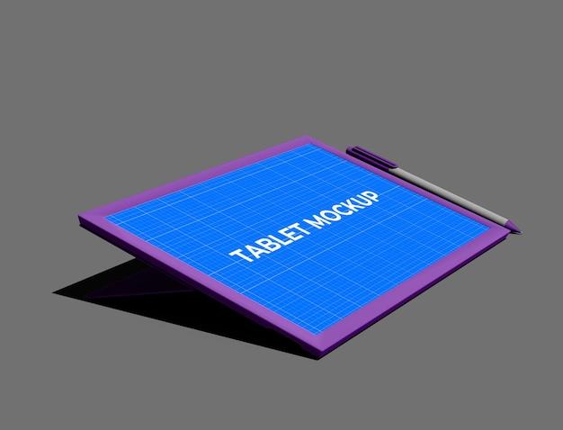 현실적인 태블릿 목업 디자인