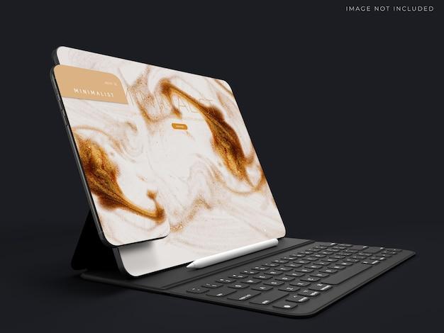글로벌 비즈니스의 브랜드 아이덴티티를위한 현실적인 태블릿 모형