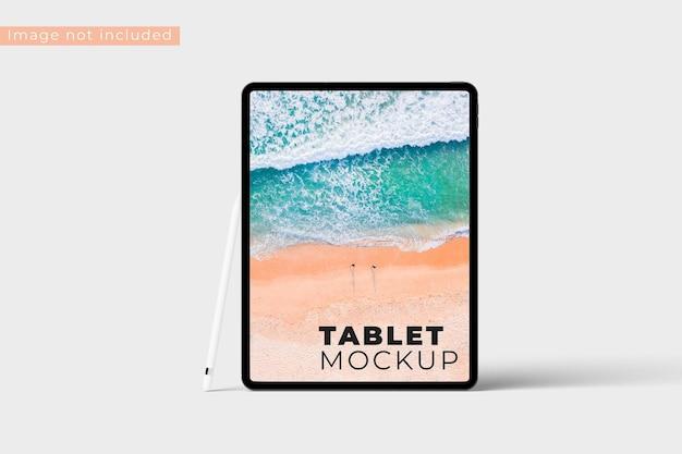 현실적인 태블릿 모형 전면보기