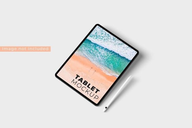 현실적인 태블릿 모형 오른쪽보기