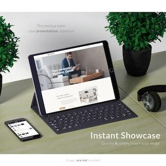 Realistic tablet screen presentation