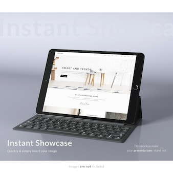 Realistic tablet screen presentation