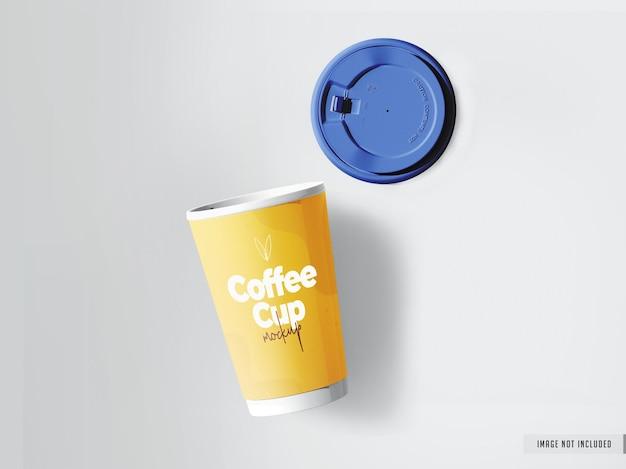Реалистичный макет кофейной чашки на вынос