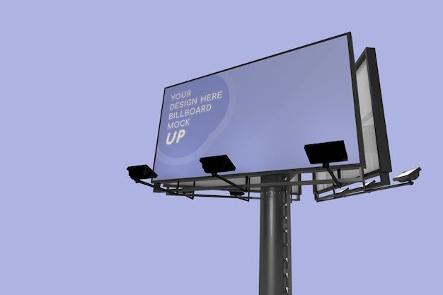 Realistic tall billboard mockup