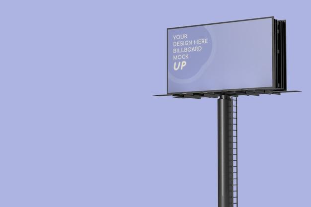 Realistic tall billboard mockup