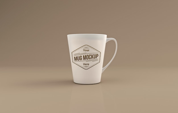 Realistic tall mug mockup 3d rendered isolated