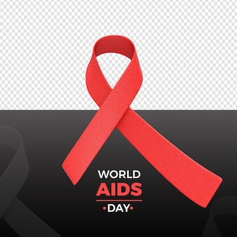 현실적인 넥타이 세계 에이즈의 날 렌더링
