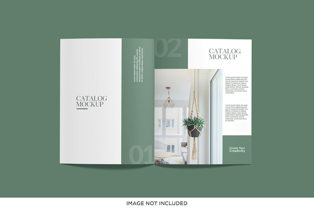Realistic top view magazine or catalog mockup