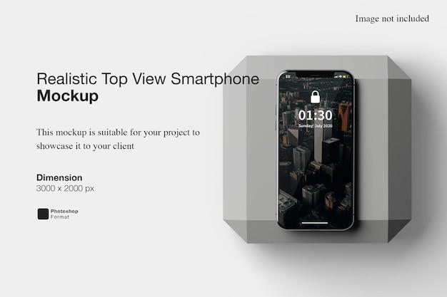 Реалистичный макет смартфона с видом сверху