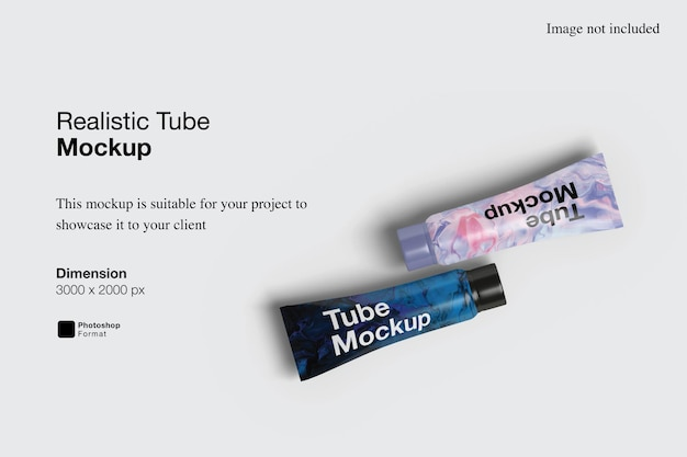 현실적인 상위 뷰 튜브 모형 디자인 절연