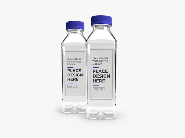 Realistic transparent plastic bottle mockup Premium Psd