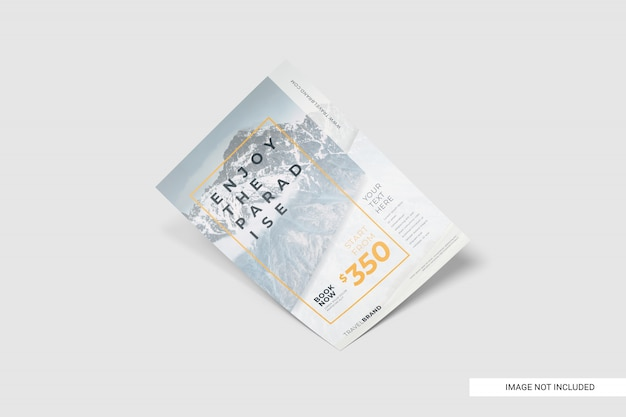 Realistic travel flyer template