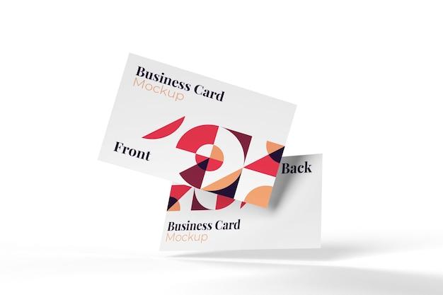 Реалистичный полезный и стильный макет визитки