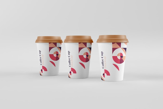 현실적인 유용하고 세련된 커피 컵 모형