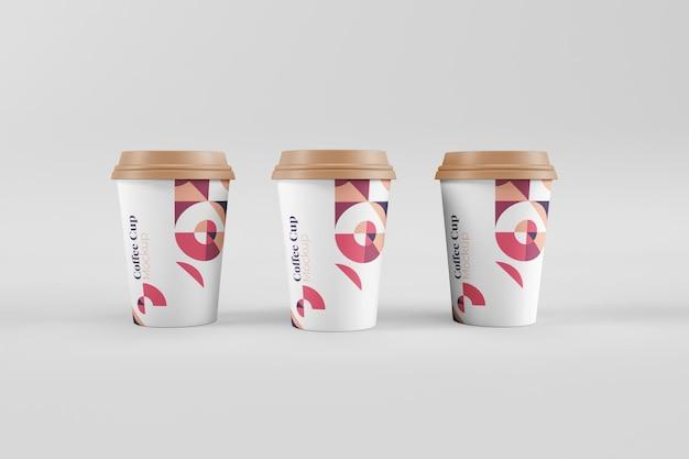 現実的な便利でスタイリッシュなコーヒーカップのモックアップ