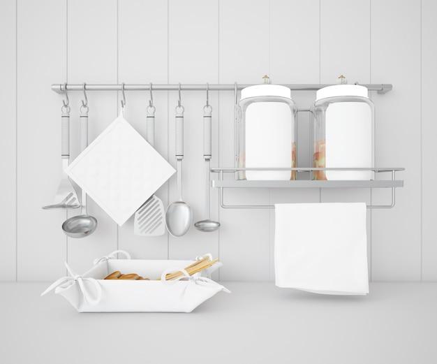 Реалистичная посуда кухонный макет