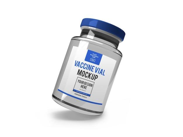 分離された現実的なワクチンバイアルモックアップテンプレート