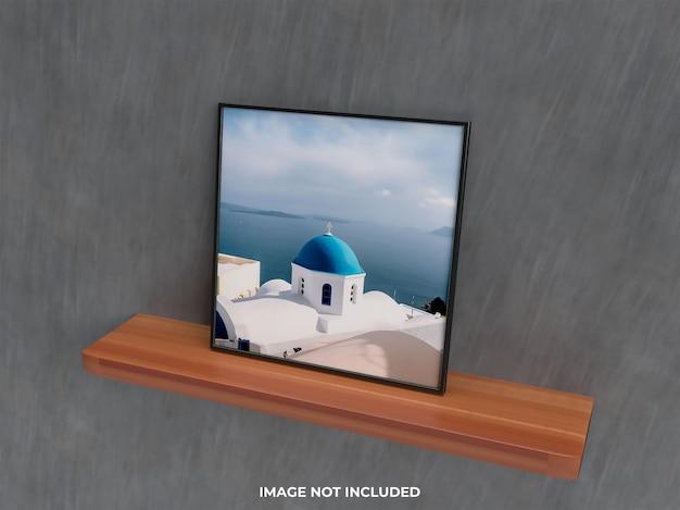 Реалистичный макет стены 3d-рендеринг настенный макет гостиной