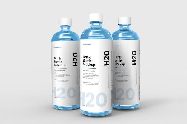 Реалистичный дизайн макета бутылки с водой изолированные