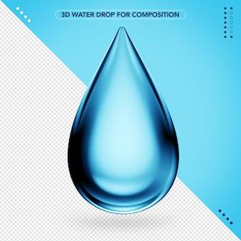 Realistic water drop in 3d