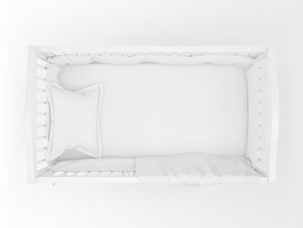 Реалистичная белая колыбель, изолированные на белом на вид сверху