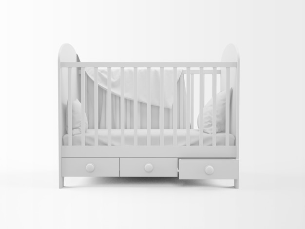 Realistic white cradle isolated on white