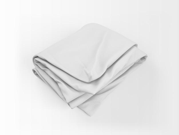 現実的な白い羽毛布団のモックアップ
