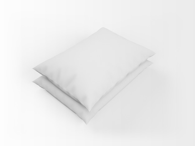 Realistic white pillows mockup