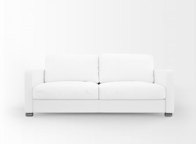 現実的な白いソファのモックアップ