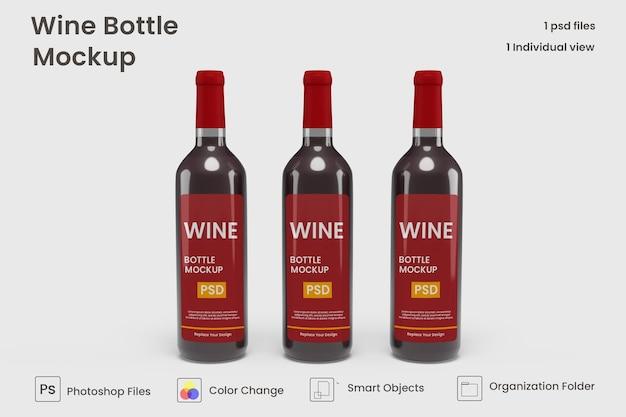 현실적인 와인 병 모형