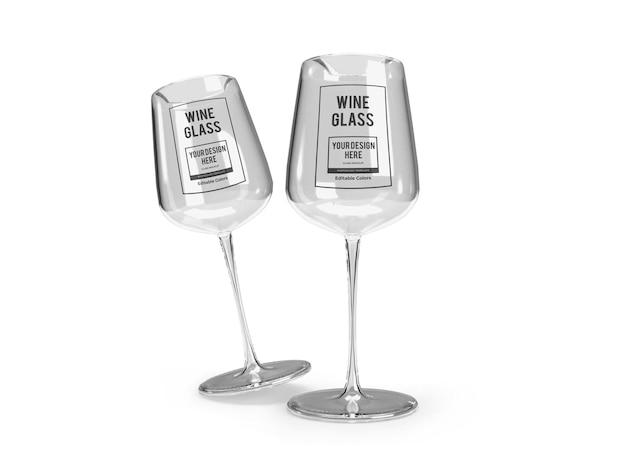 현실적인 와인 유리 이랑 템플릿 절연