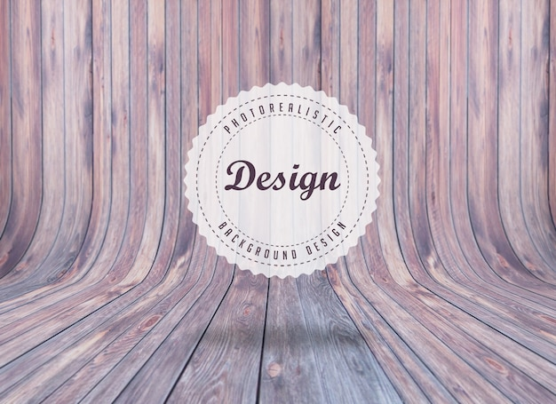 Realistic woodboard background design