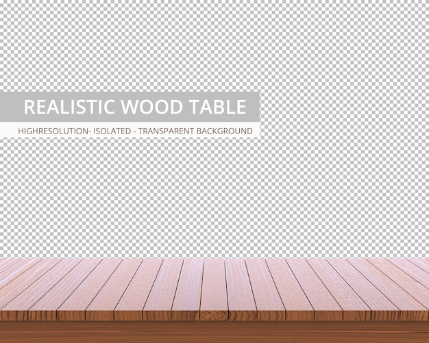Realistic wooden table top