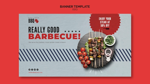 Really good bbq banner template