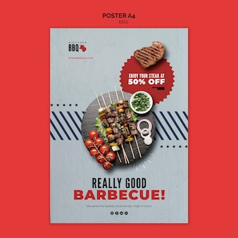 Really good bbq flyer template