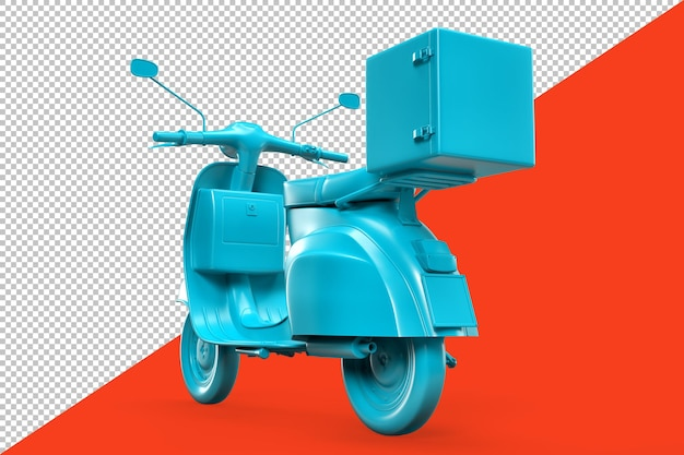Rear view of vintage retro scooter