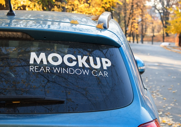 Rear window car mockup