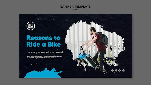 Reasons to ride a bike ad banner template