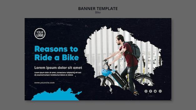 Motivi per guidare un modello di banner pubblicitario in bicicletta