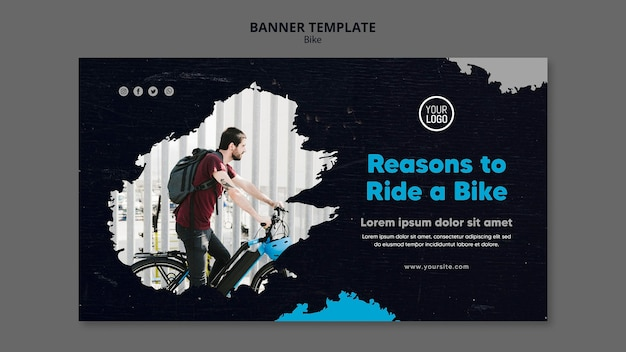 Reasons to ride a bike banner template