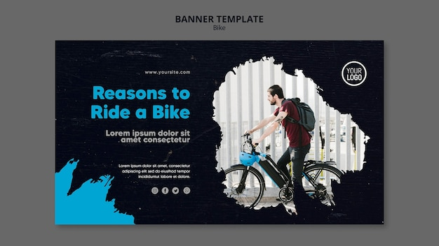 Reasons to ride a bike template banner
